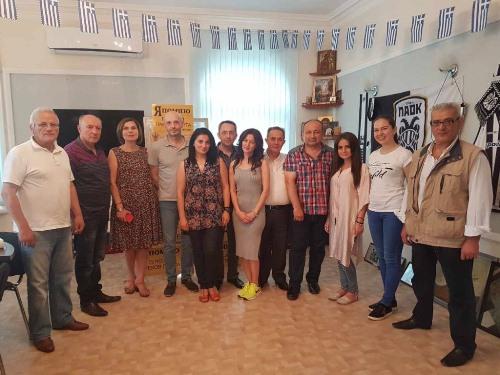 Делегация из Греции начала знакомство с Ростовом-на-Дону с посещения храма Благовещения Пресвятой Богородицы