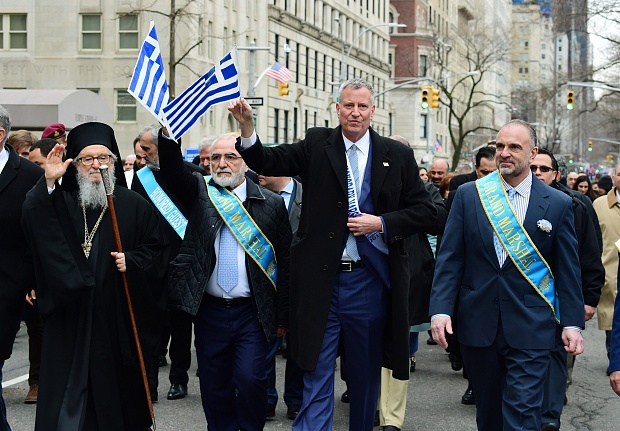 Ivan Savvidi headed the Greek Independence Day Parade in New York