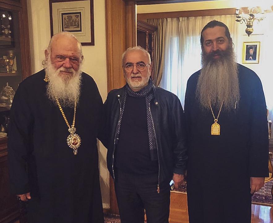 Иван Саввиди встретился с Архиепископом Афинским и всея Эллады Иеронимом II