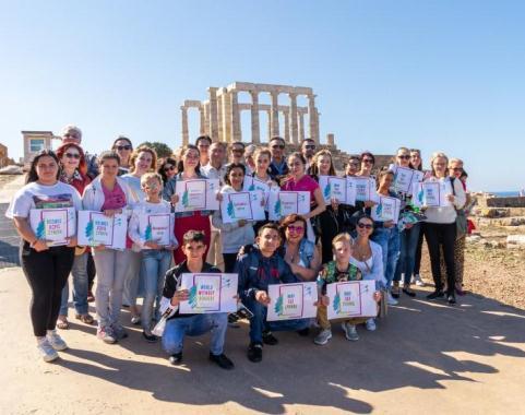 Конкурс рисунка «Мир без границ, Моя Греция» дал импульс единству и любви