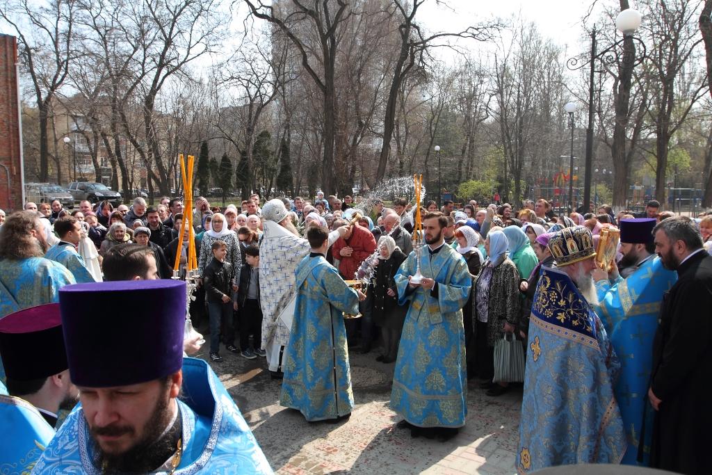 Θρονική Γιορτή του Ευαγγελισμού της Θεοτόκου στον Ιερό Ναό του Ευαγγελισμού της Θεοτόκου, Ροστόφ στον Ντον, 7 Απριλίου 2017