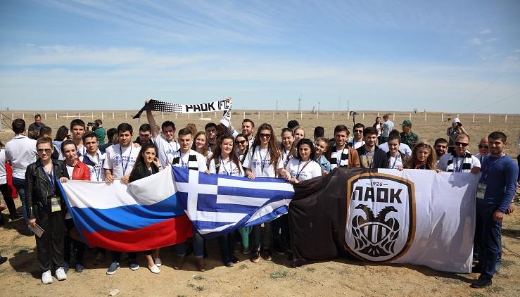 Греческая молодежь России на Байконуре, 20 апреля 2017