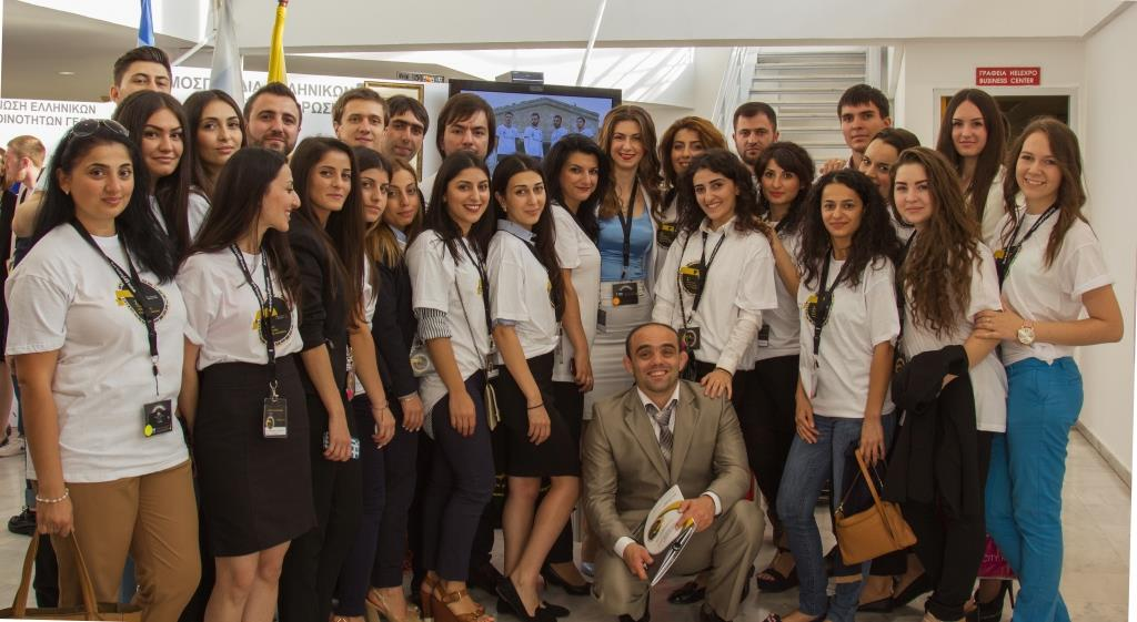 2015 год. Всемирный съезд понтийской молодежи в г. Салоники (Греция). Делегация молодежи из России