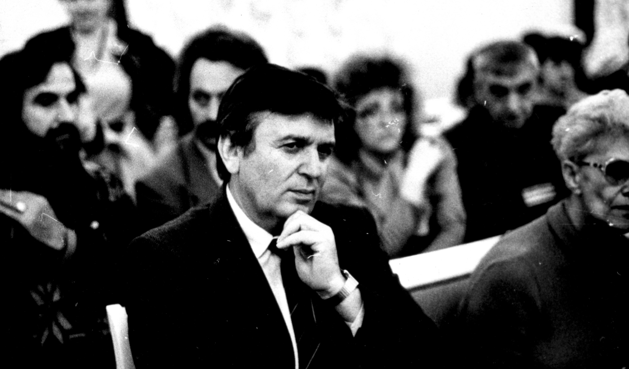 The first constituent congress of the USSR Greeks in Gelendzhik, 1991. In the foreground Laki Kesoglu
