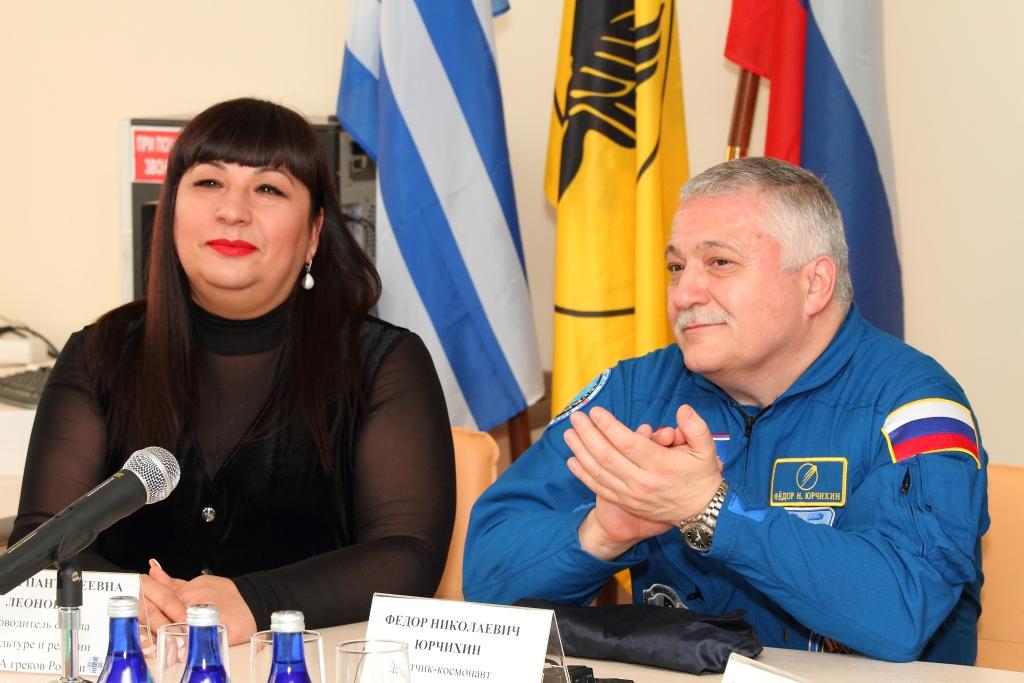 Ф.Н.Юрчихин и М.П. Леонова, руководитель отдела культуры и религии ФНКА греков России