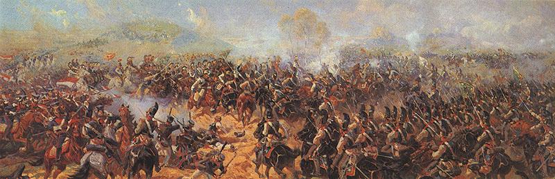 Батарея Раевского во время сражения. Часть Бородинской панорамы. Франц Рубо