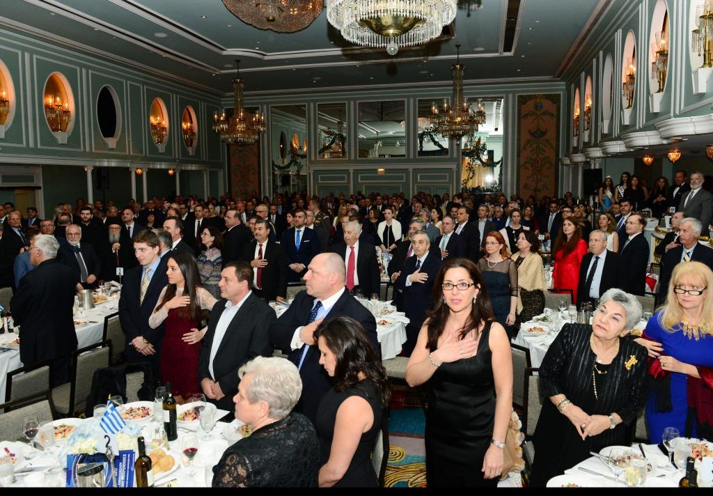 Ужин в гостинице Hilton в честь Гранд-маршалов Парада в Нью-Йорке, 25 марта 2017