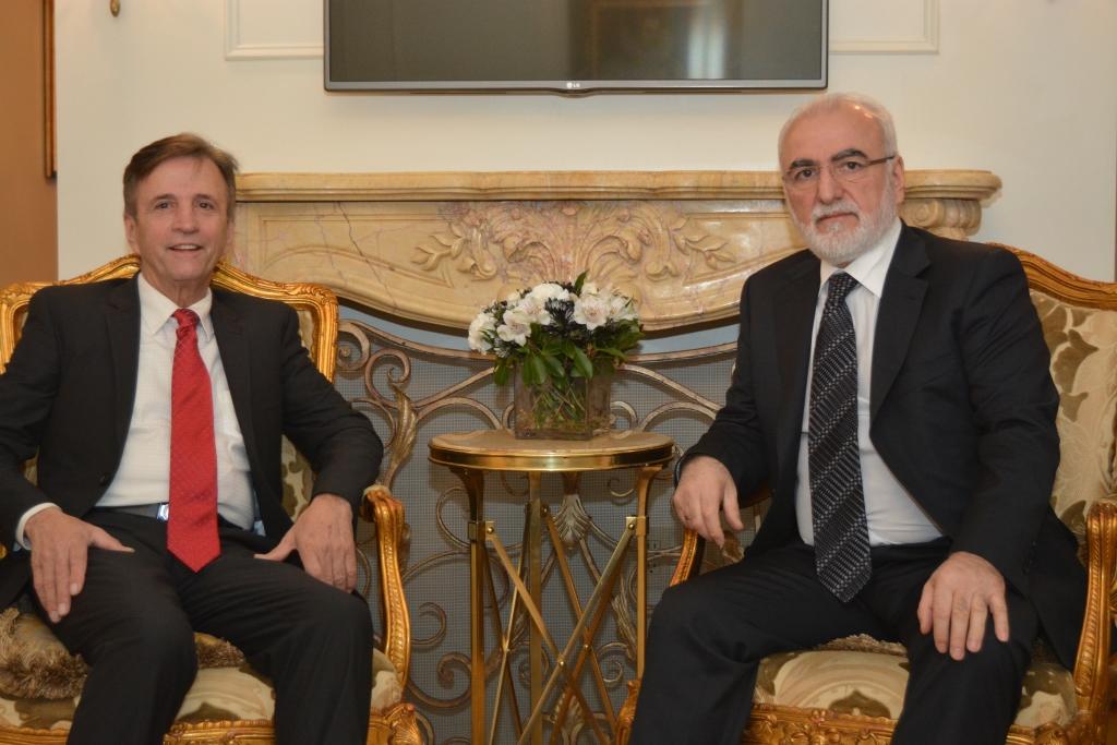 Иван Саввиди на встрече с руководителем Федерации греческих обществ Нью-Йорка Петросом Галатолусом