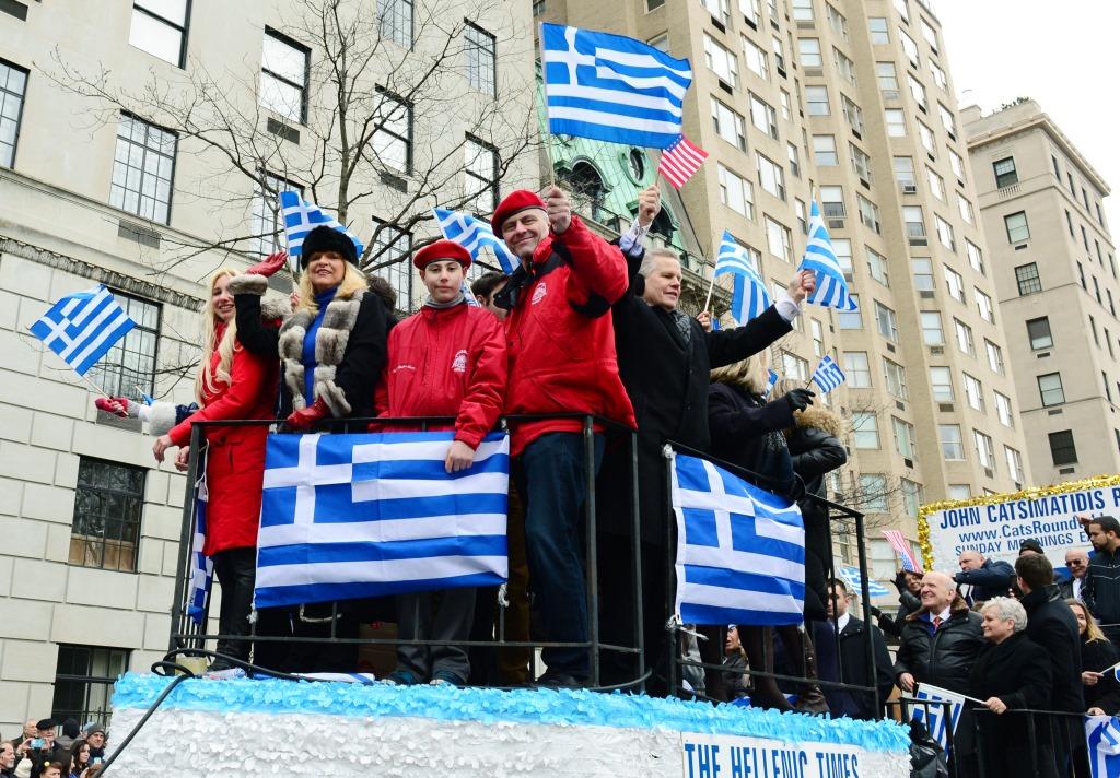 Парад, посвященный Дню Независимости Греции, в Нью-Йорке, 26 марта 2017