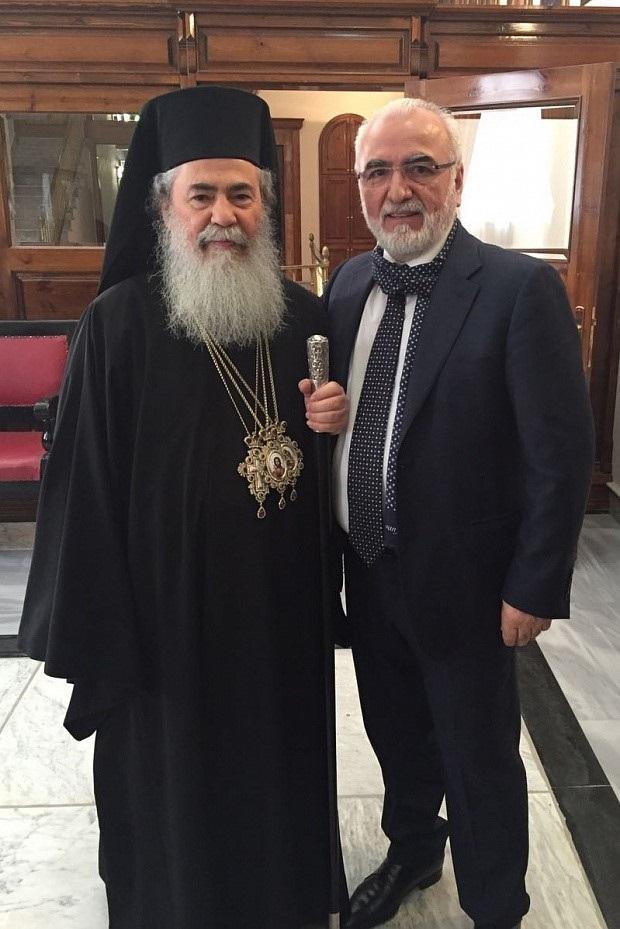 Иван Саввиди с Патриархом Иерусалимским Феофилом III