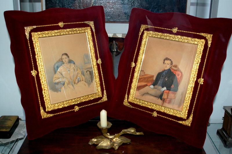 Николай Дмитриевич Алфераки  и его супруга Любовь Кузьминична