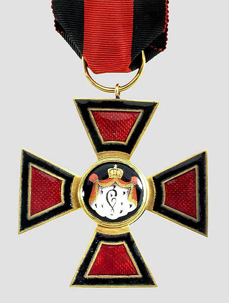 Παράσημο «Τάγμα του Αγίου Βλαδίμηρου» Α΄ τάξεως (1820)