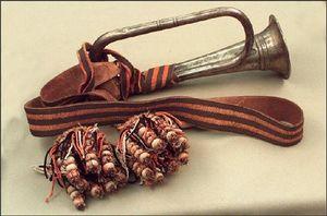 В 1805 г. появились первые коллективные Георгиевские награды — Георгиевские знамена (штандарты) и Георгиевские трубы