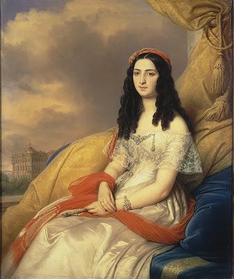 Екатерина (графиня Д'Аш) Бенардаки, дочь Дмитрия Бенараки. Ермитаж, худ. Карл фон Штейбен, 1844 г.