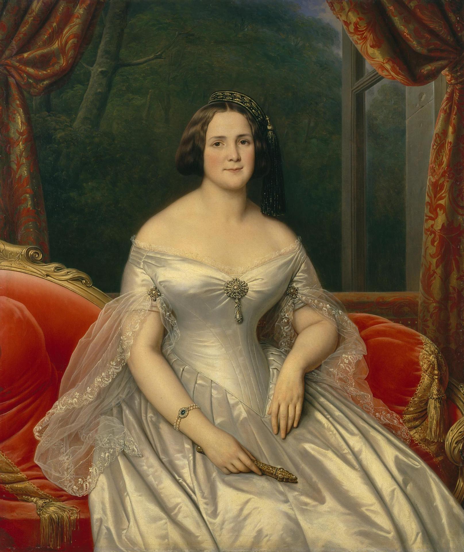 Анна Егоровна Капури, жена Дмитрия Бенардаки. Ермитаж, худ. Карл фон Штейбен, 1844 г.