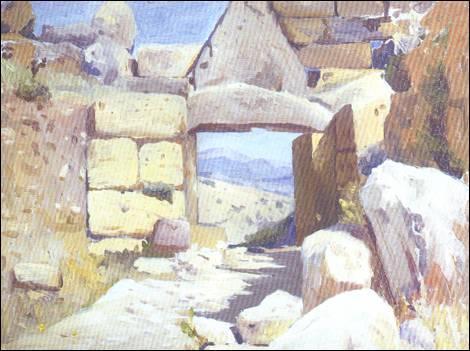 Την περίοδο 1904-1905 ο Χειμώνας πραγματοποίησε το πρώτο του ταξίδι στην πατρίδα των προγόνων του, την Ελλάδα. Αποτέλεσμα του ταξιδιού ήταν μία σειρά από μοναδικές ζωγραφιές, ανάμεσά τους και η «Πύλη των Λεόντων» στις Μυκήνες