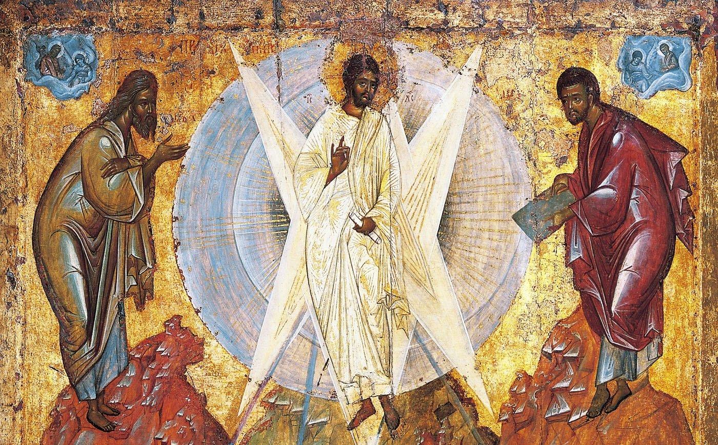Η Μεταμόρφωση του Σωτήρος. Τοιχογραφία του Θεοφάνη, 1408. Πινακοθήκη Τρετιακόφ, Μόσχα