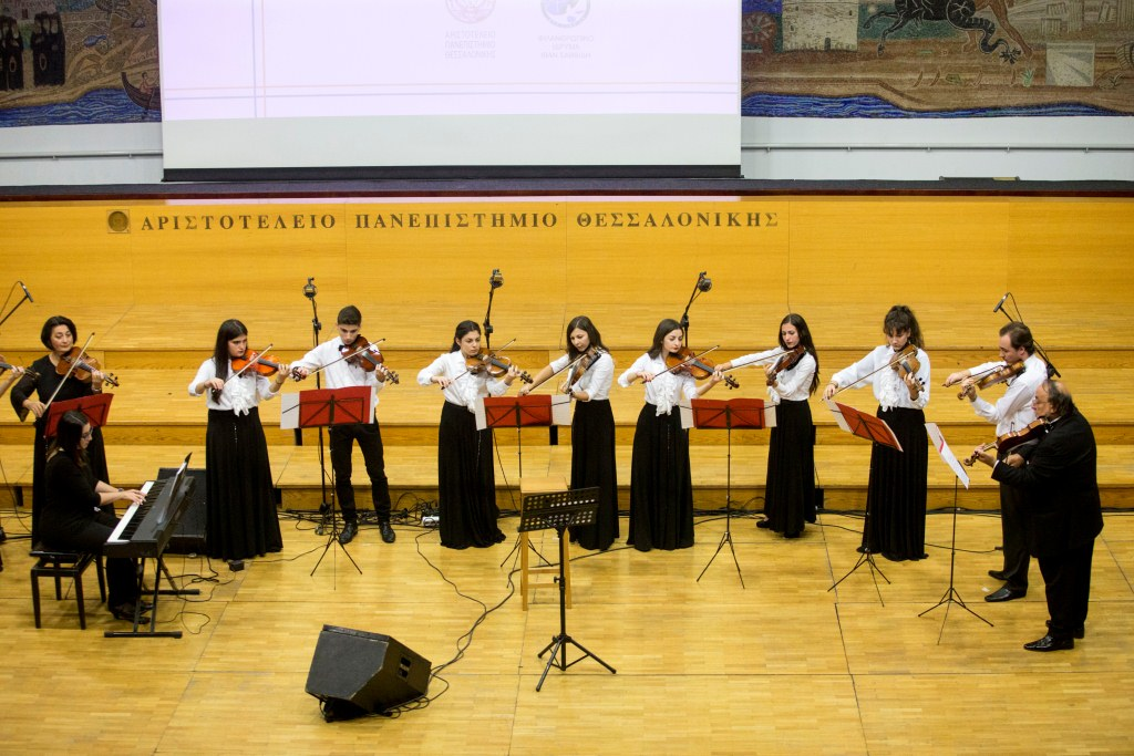 The musical program of opening ceremony of the department