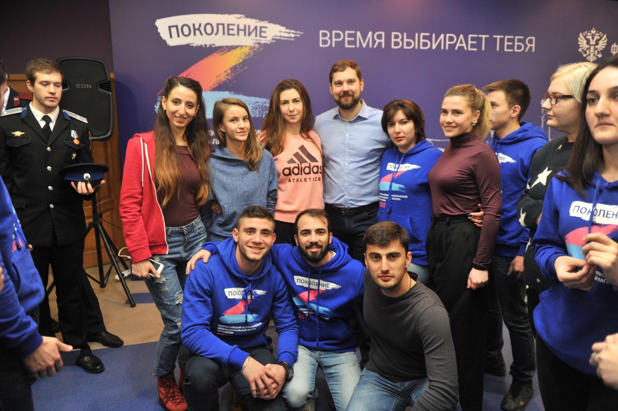 Греческая молодежь с Руководителем Федерального агентства по делам национальностей Игорем Бариновым