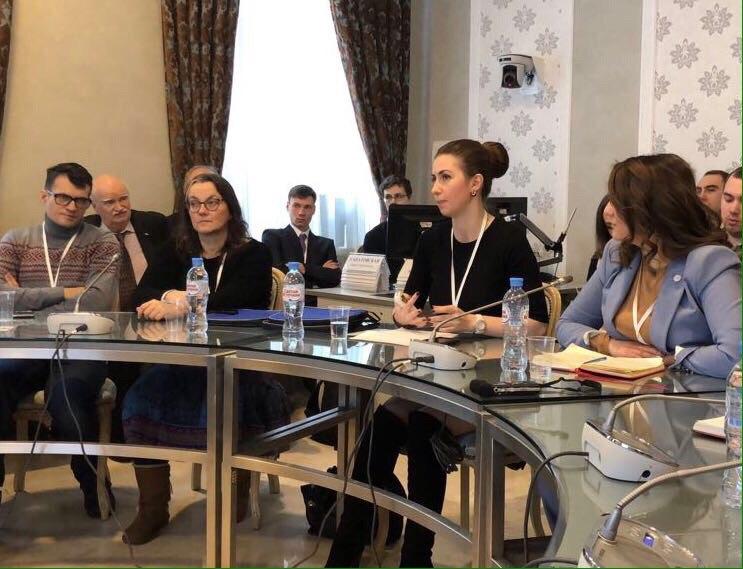 Выступление Председателя Совета молодежи ФНКА греков России Евгении Поповой на секции - презентации успешных проектов в сфере народной дипломатии