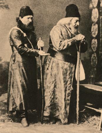 Петров (справа) в роли Варлаама (1873 г.)