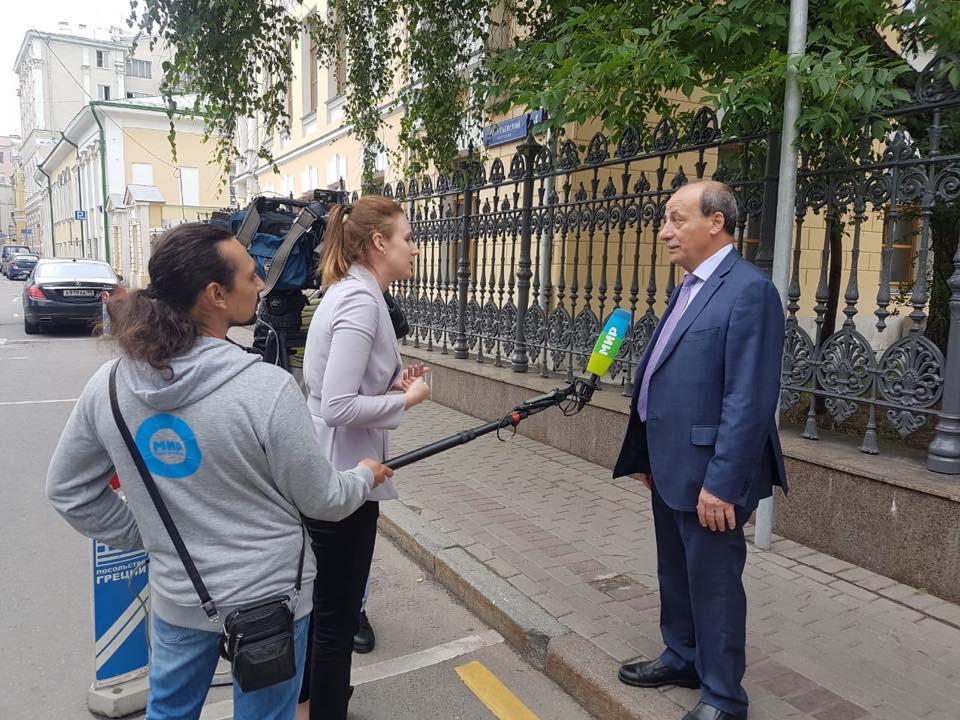 Председатель Московского общества греков Христо Тахчиди выражает соболезнования греческому народу