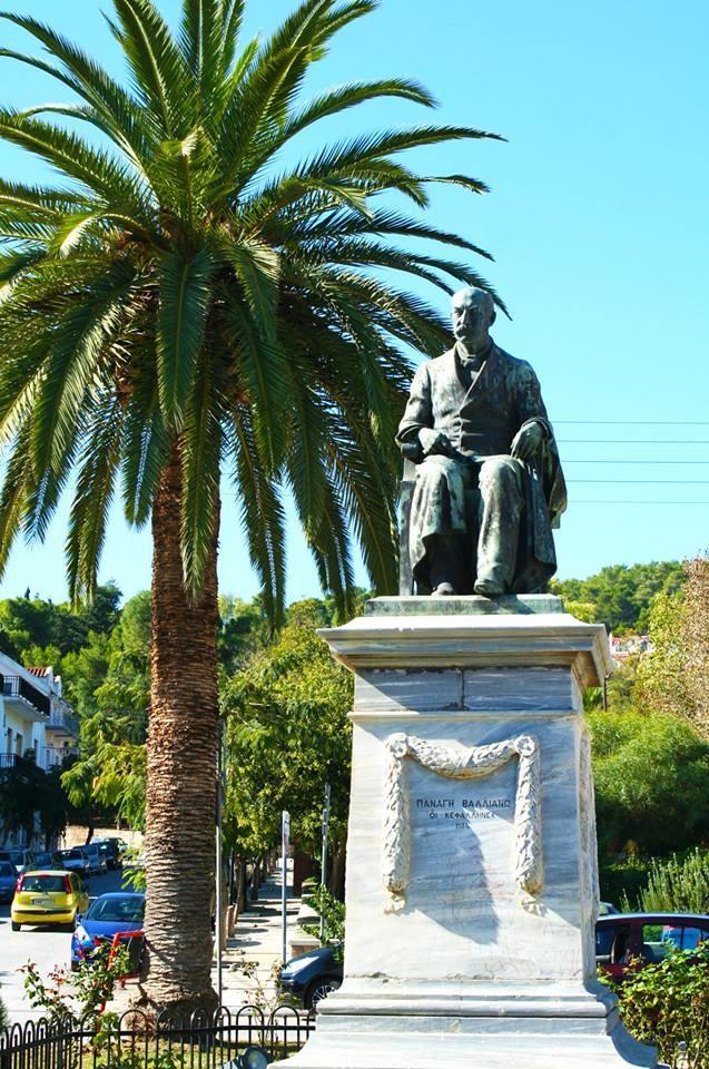 Памятник Валлианоса в Аргостолионе. Скульптор Димитриадис Константинос