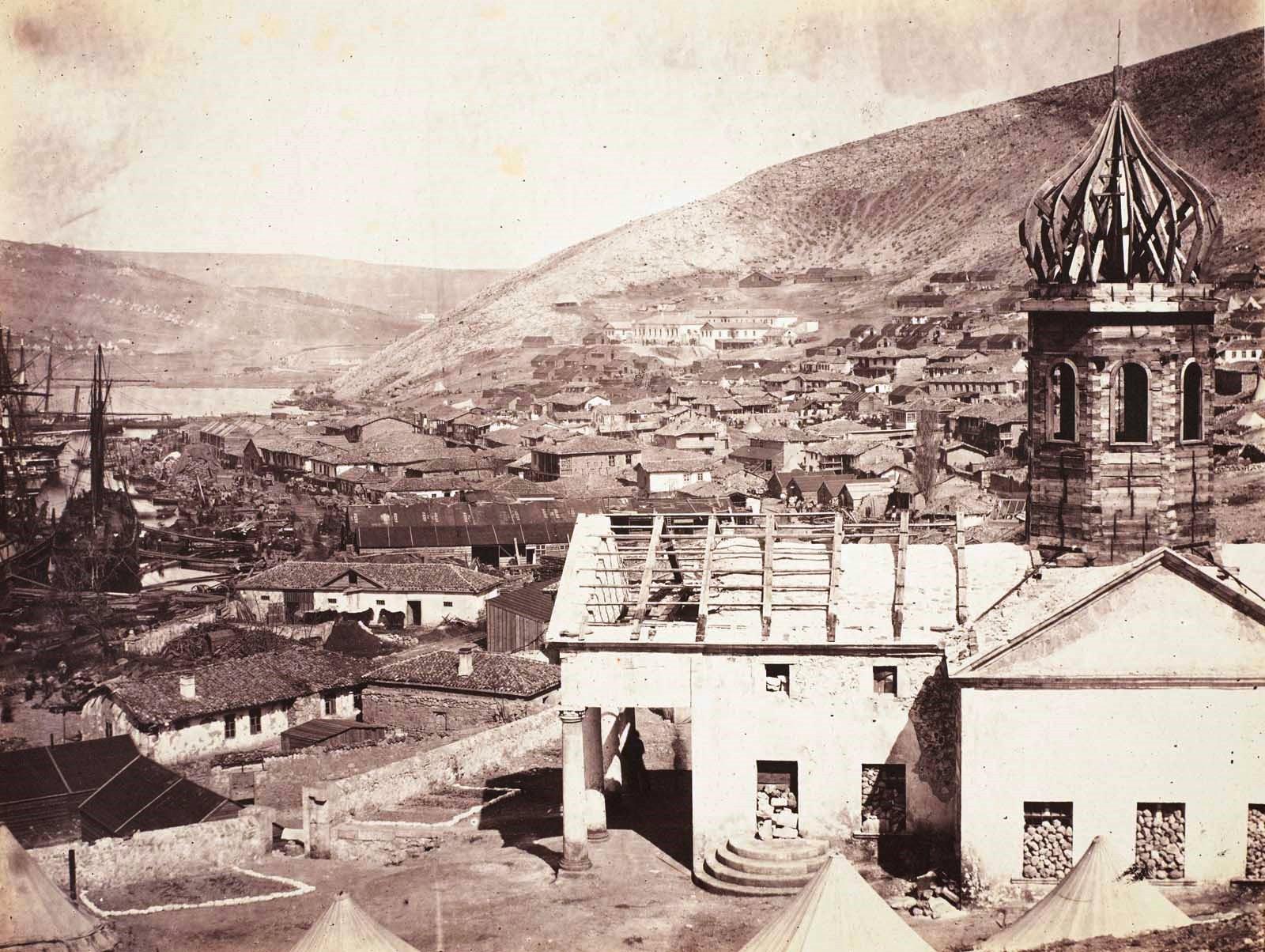 Балаклава после взятия англичанами. Фотография 1855 года