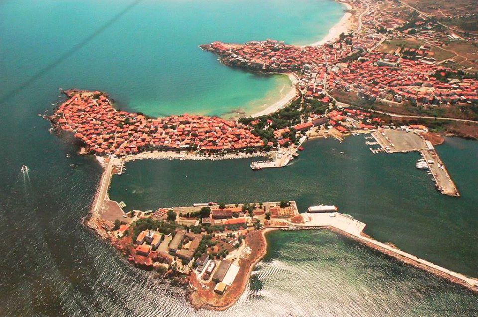 Вид Сизопольской бухты. Современное фото