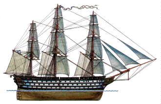 Предположительный вид фрегата «Царь Константин»